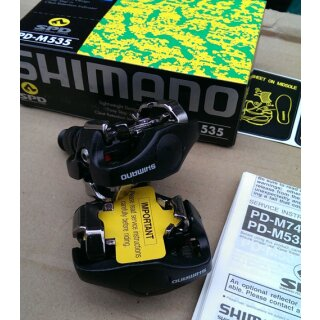 Shimano PD-M535 SPD-Clickpedale, inkl. Cleats, schwarz, NEU