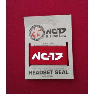 NC-17 Headset Seal Steuersatz-Schutz, Neopren, made in USA, rot, NEU