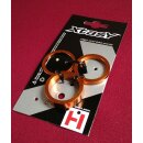 Xtasy Alu Spacer, 1 1/8 Ahead, 3er-Set, 2/5/10mm, orange,...